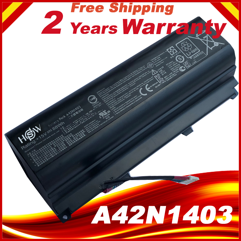 15V 88WH A42N1403 A42LM93 4ICR19/66-2 Battery for Asus GFX71JY G751J G751JT G751JY G751 Laptop 14 4v 3000mah us55 4s3000 s1l5 40046152 4icr19 66 original battery for medion akoya md98736 s6212t md99270 s6615t s621xt s6211t