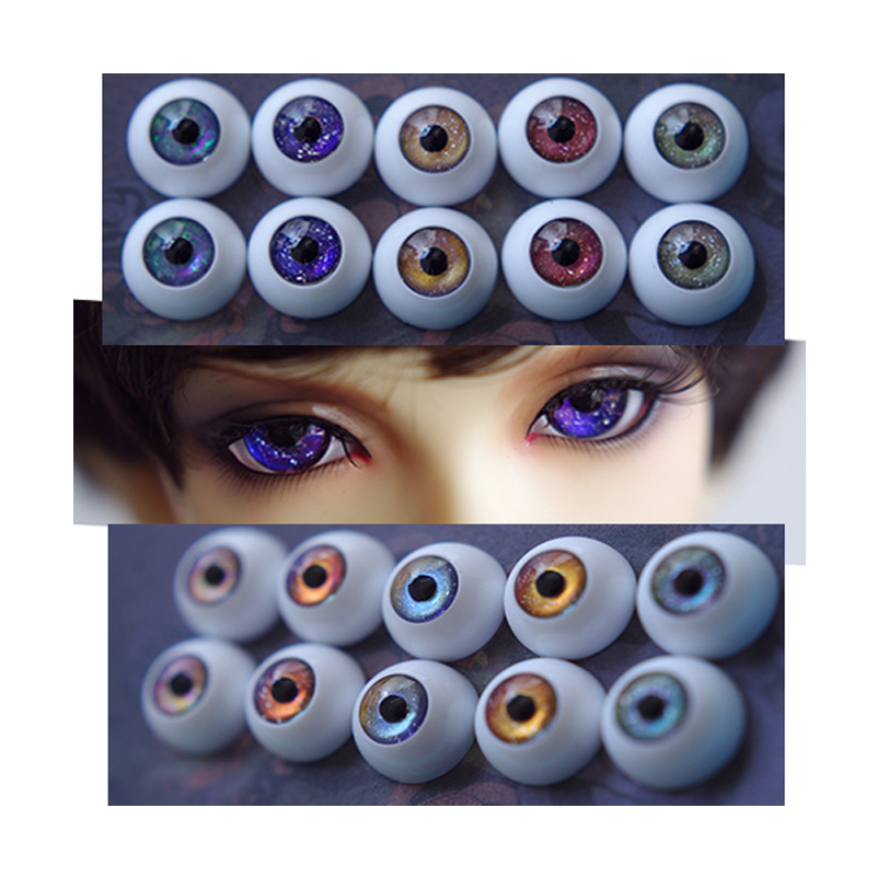 1 Pair DIY Glass BJD Eyes 12mm 14mm 16mm 18mm 20mm For SD Dolls 1/3 1/4 1/6 BJD Doll Accessories Eyeballs Toys For Children