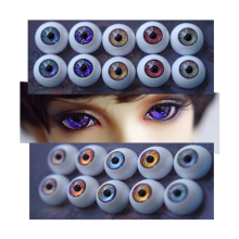 цены 1 Pair DIY Acrylic BJD Eyes 12mm 14mm 16mm 18mm 20mm For SD Dolls 1/3 1/4 1/6 BJD Doll Accessories Eyeballs Toys For Children