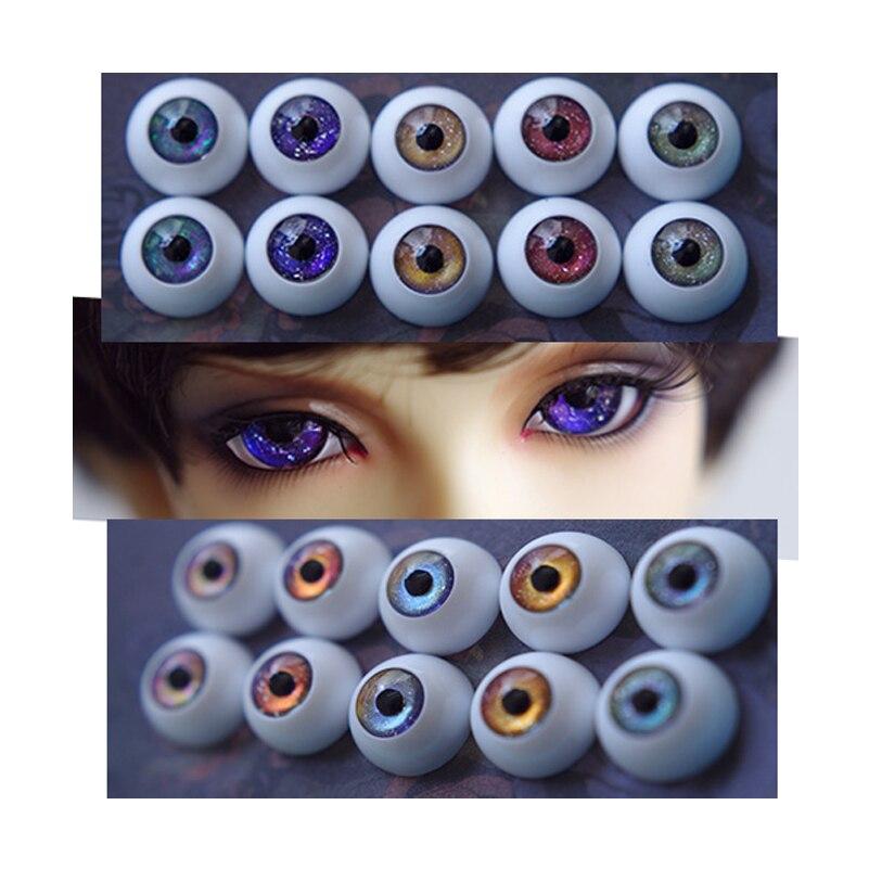 1//3 1//4 1//6 bjd 12mm acrylic doll eyes metallic blue full eyeball dollfie AE-62
