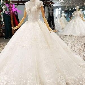 Image 5 - AIJINGYU נישואי שמלת באינטרנט גבוהה רחוב שמלות ללבוש מצרים אירוסין לבן כלה תורכי מקרית שמלות חתונה מלכותית שמלה