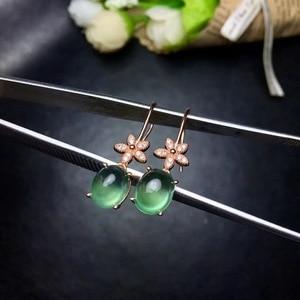 Image 5 - Tự nhiên nho stud bông tai, 925 bạc thiết kế chính xác, phong cách hoa nhỏ, 925 bạc, đầy đủ của ánh