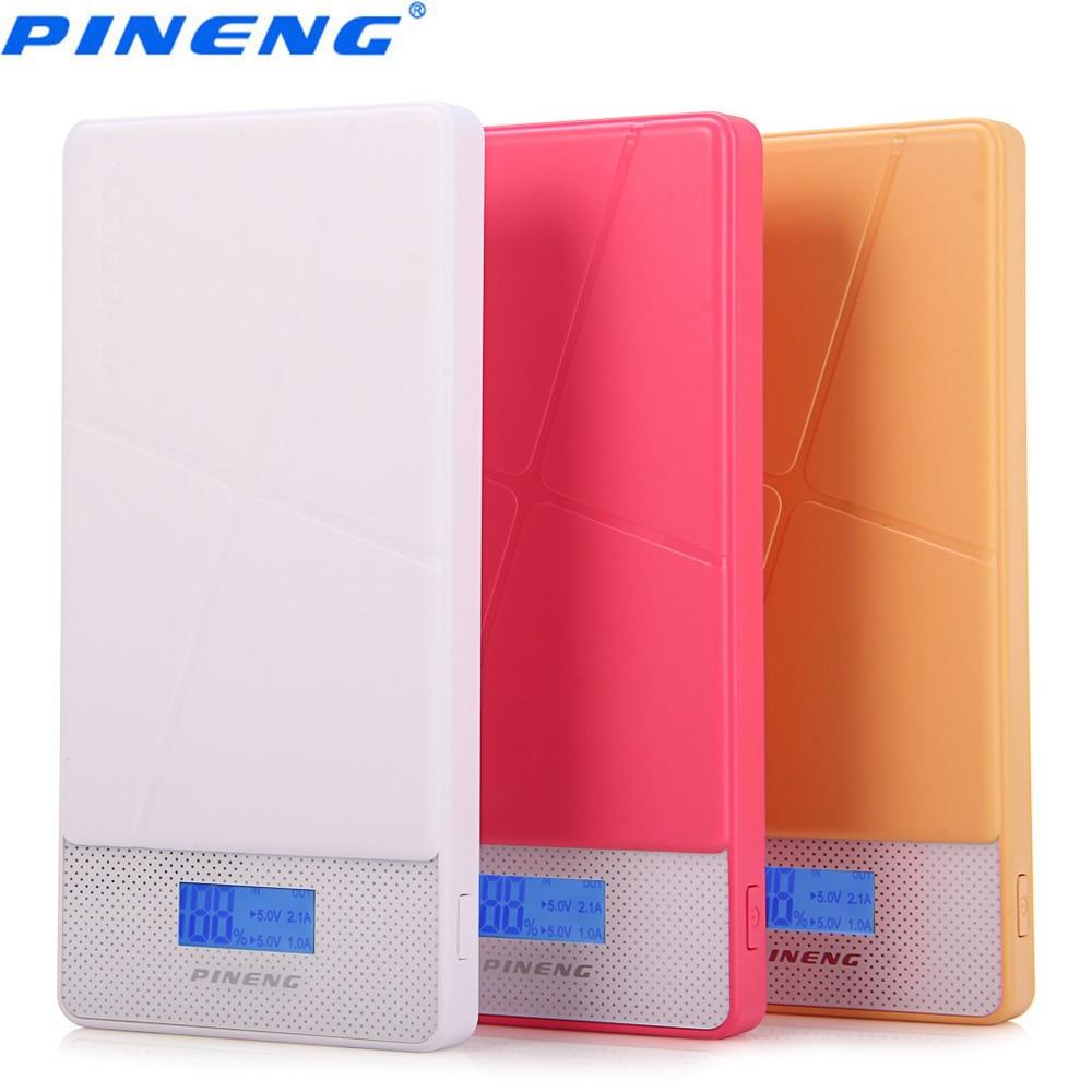 imágenes para Pnw-983 s 10000 mah pineng original 1.0a 2.1a dual usb cargador de batería externo móvil banco power pack con una función de li-polímero