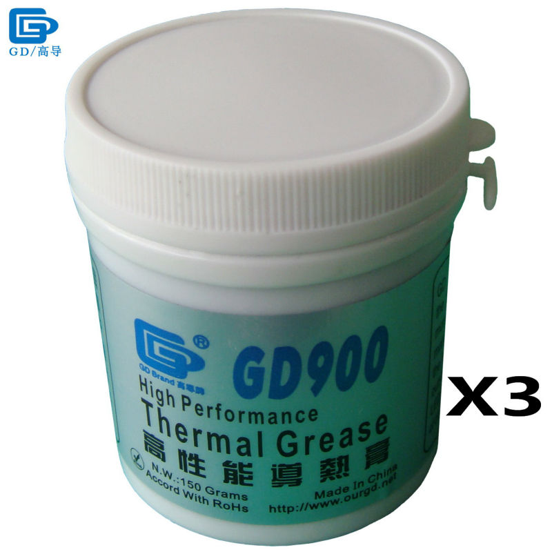 GD Brand Thermal Conductive Grease Paste Plaster GD900 Heat Sink Compound 3 Pieces Net Weight 150 Grams High Performance CN150 все цены