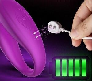 Беспроводной U-образный силиконовый вибратор, взрослые игрушки для пар, подзарядка через USB, фаллоимитатор для стимуляции точки G, двойные вибраторы, интимная игрушка для женщин