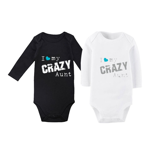 422ff0a0469f Culbutomind Aunt Baby Clothes I Love My Crazy Aunt Long Sleeve Baby ...