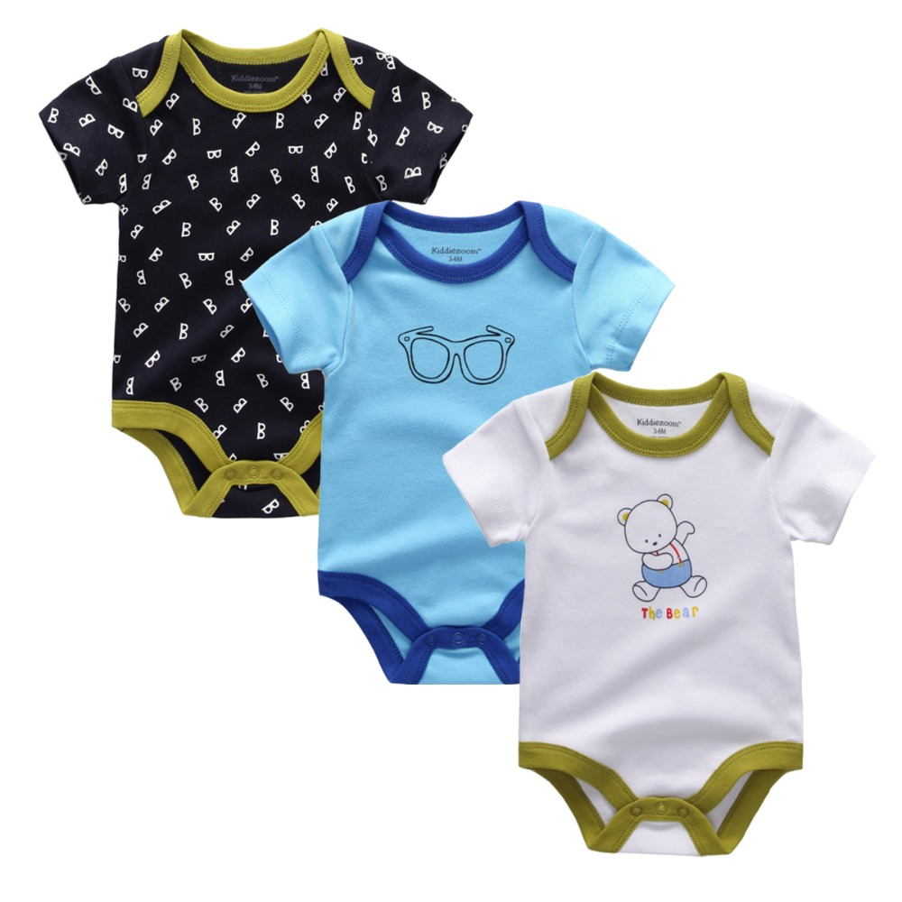 2017-New-baby-girls-jumpsuits-baby-bodysuits-3pcslot-cotton-newborn-wholesale-short-sleeve-baby-boys-clothing-set-2
