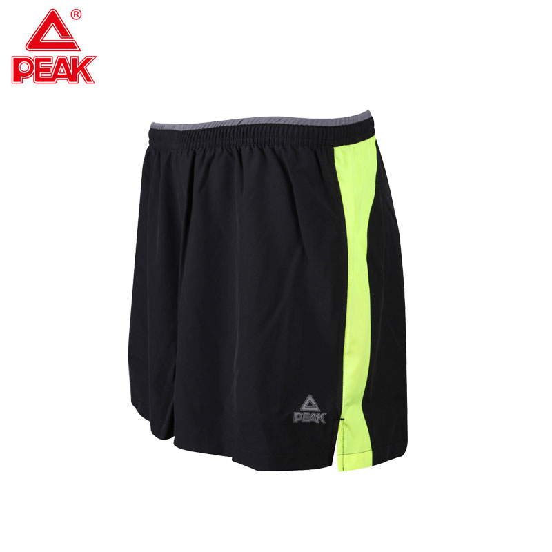 PEAK Mens Running Shorts Breathable Sports Short for gym yoga trainning with back pocket ...