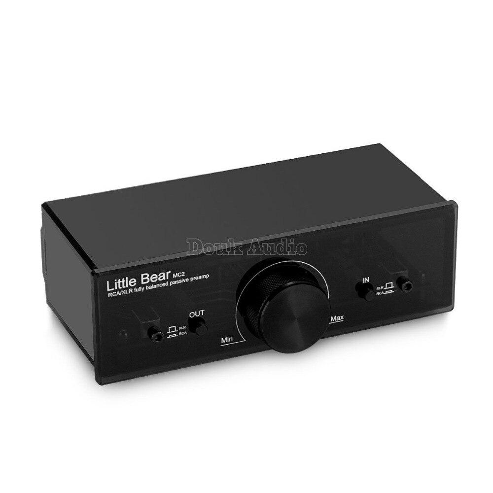 2017 New Little bear MC2 Mini Totalmente Equilibrado e Passiva Preamp Volume Controlador XLR/RCA Switcher Sinal De Áudio