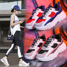 OLOMM New Fashion Women Shoes Ladies Casual High Platform Female Sport Black White Sneakers