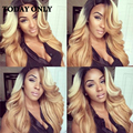 Christmas Deals Blonde Brazilian Virgin Hair 4 Bundles With Closure Brazilian Straight Hair With Closure Ombre Human Hair Weave