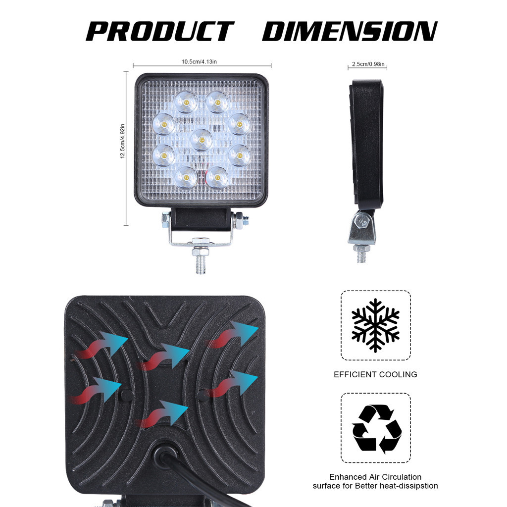 Image 5 - Luces Led Para Auto 2x LED Lamps For Cars LED Work Light Pods 4 Inch 90W Square Spot Beam Offroad Driving Light Bar-in Light Bar/Work Light from Automobiles & Motorcycles