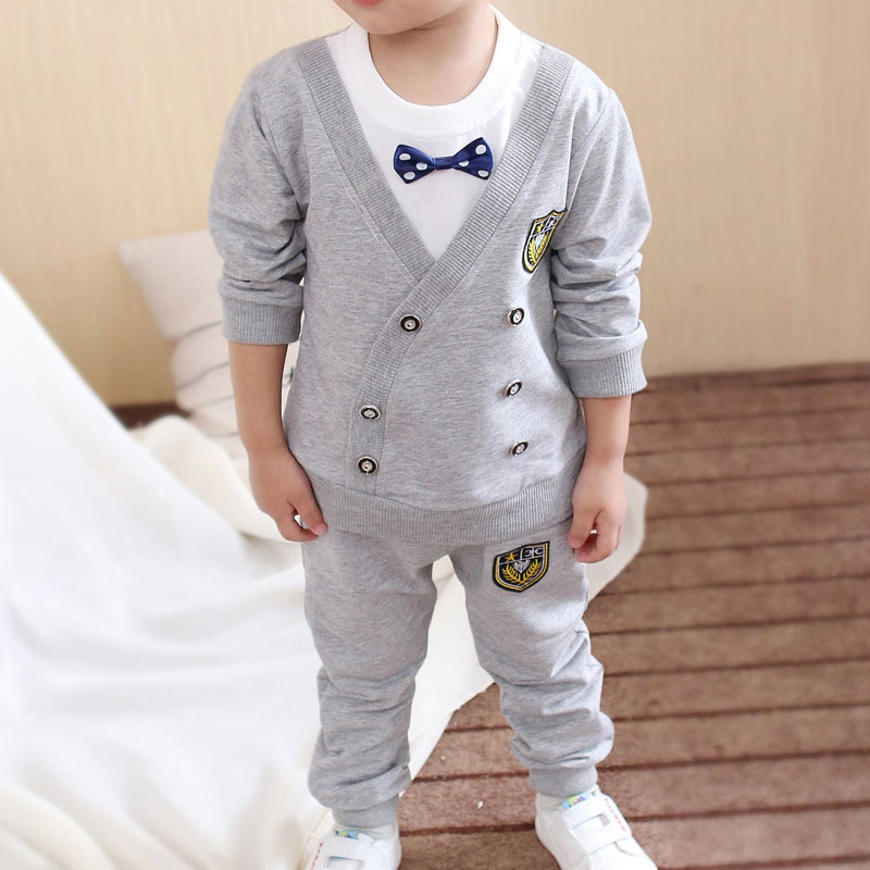 Spring Autumn Baby Boy Clothes Set Children Clothing Sets Sweater fabric Kids Clothes Baby Boys T-shirts+Pants 2PCS Tracksuit одежда на маленьких мальчиков