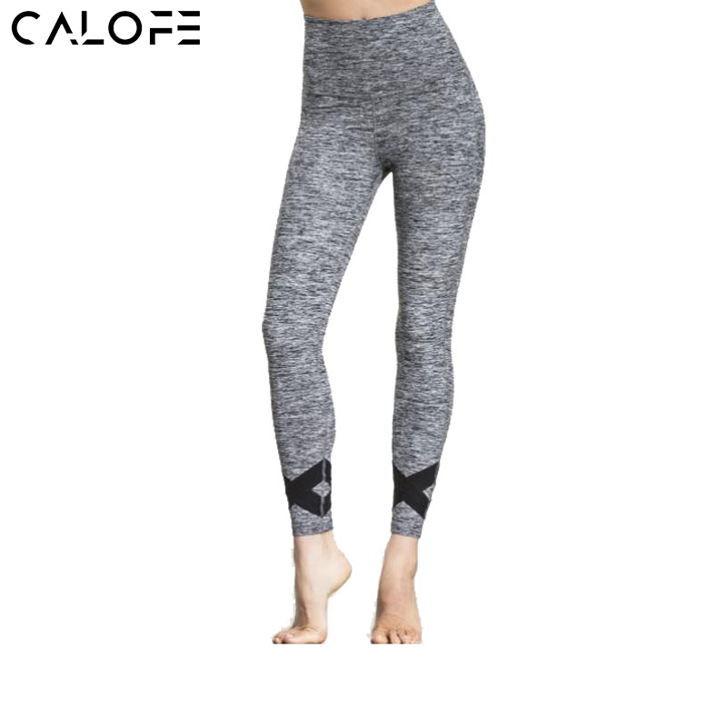CALOFE Trousers Crossed Running Fitness Pants Leggings Gym Joggers Pants New Women Sexy Fitness Yoga Pants Running Tights Pants