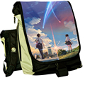 Anime You Name kimi no na wa Cosplay Backpack Schoolbag Canvas Shoulder Bags Laptop Travel Bag Rucksack with Replaceable Cover