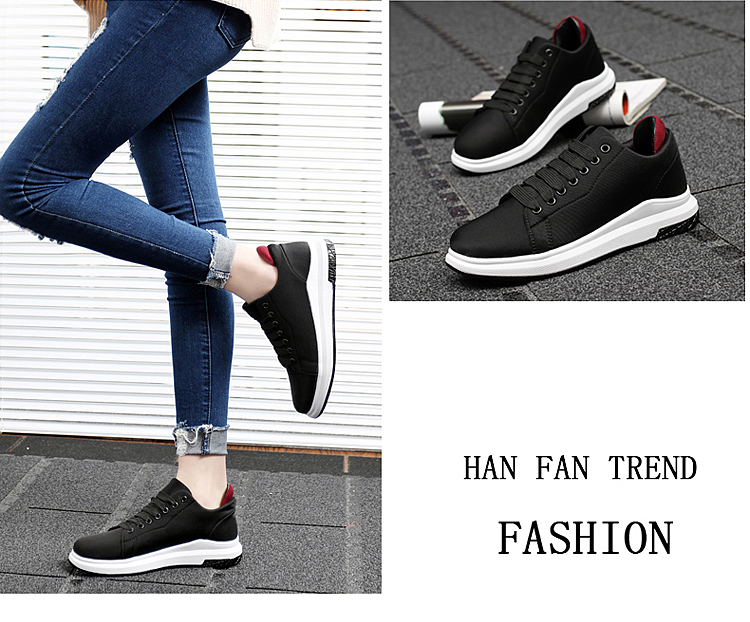 Stretch Fabric Casual Shoes Woman 2017 Fashion Spring Lace Up Ladies Shoes Breathable Women\'s Vulcanize Shoes Superstars ZD68 (31)