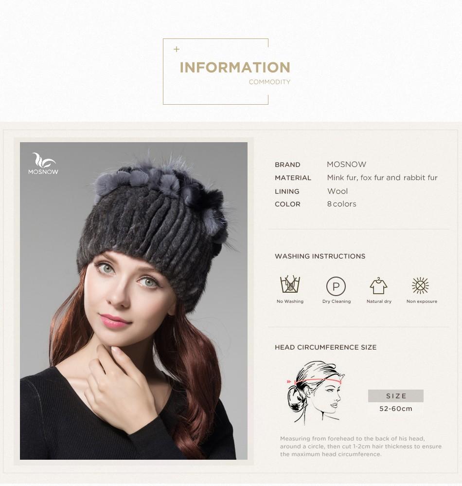 mink fur hats female winter PCM016 (3)