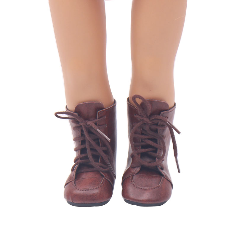 Bambole scarpe popolare marrone scuro Martin boot bambola scarpe fit Americana 18 pollici Della Ragazza e 43 centimetri giocattolo del bambino accessori s104Bambole scarpe popolare marrone scuro Martin boot bambola scarpe fit Americana 18 pollici Della Ragazza e 43 centimetri giocattolo del bambino accessori s104