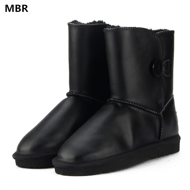 MBR Australia Classic Lady Shoes High Quality Waterproof Genuine Leather Snow Boots Fur Winter Boots Warm Classic Women UG Boots australia classic lady shoes high quality waterproof genuine leather snow boots fur winter boots warm classic women ug boots