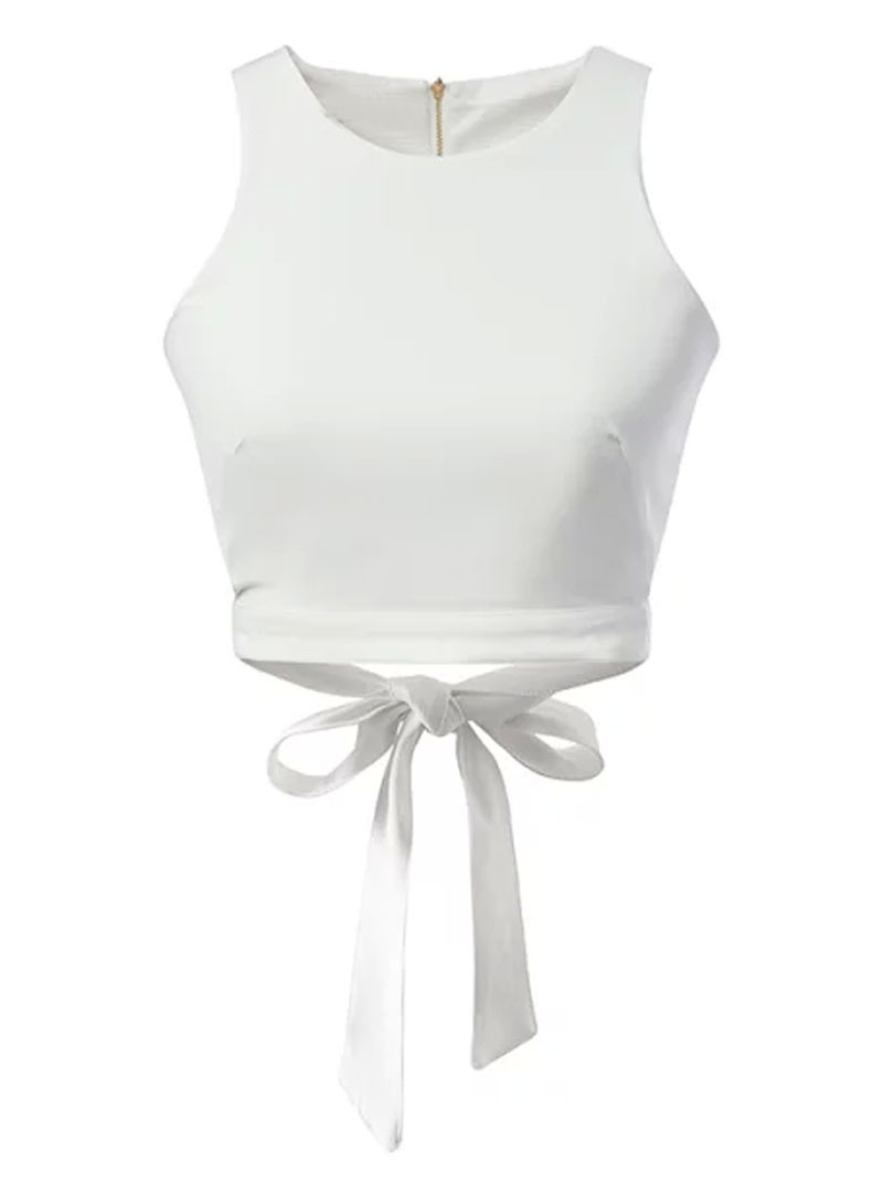 a39b9cad81440c Global Lady Store 2015 New Arrival Women sexy crop tank tops White Bow Tie  Back Cut Out Crop Top CROP0623B457C on Aliexpress.com | Alibaba Group