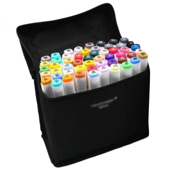 TOUCHNEW 48 Color 6 Alcohol Art Dual Tip General Sketch Pen Marker White