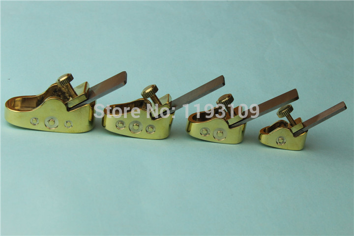 New style 4 pcs various size mini brass planes Violin Cello making tools