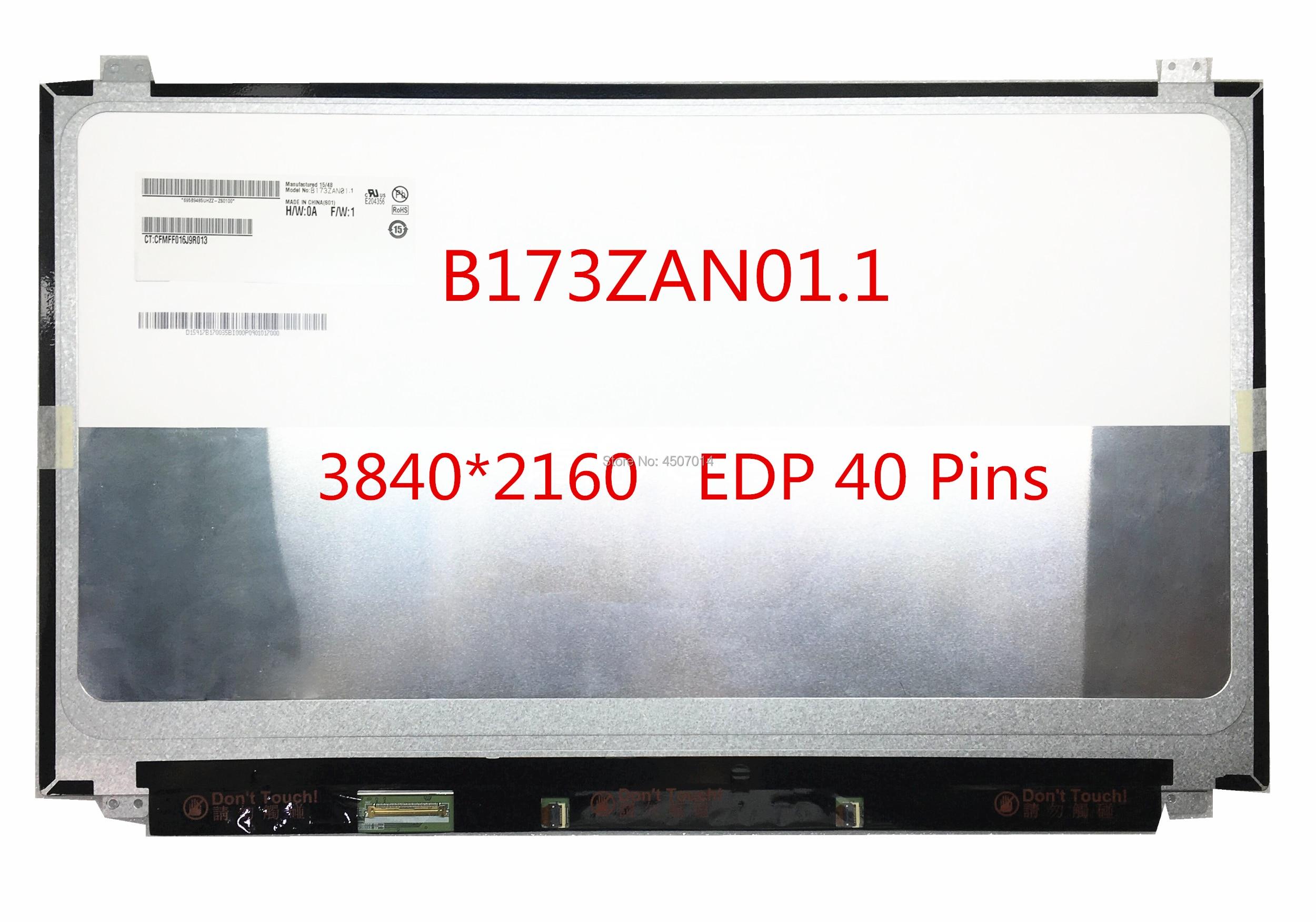 Free shipping B173ZAN01 1 B173ZAN01 0 B173ZAN01 2 B173ZAN01 4 17 3 inch 4K Laptop Lcd