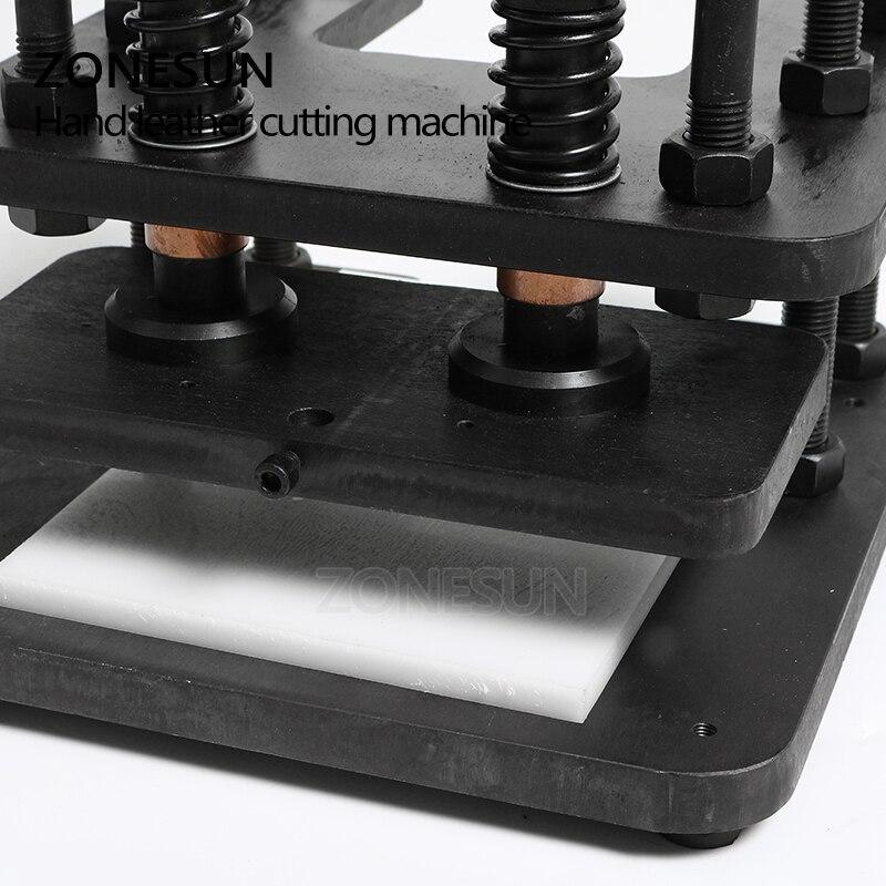 ZONESUN 2614 ручной станок для резки кожи DIY бумажный мешок фото бумага ПВХ/Эва лист формы резак кожа высечки - 3