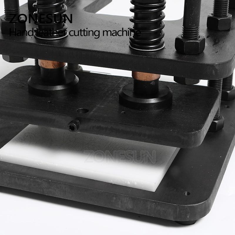 ZONESUN 2614 Hand lederen snijmachine DIY portemonnee tas fotopapier PVC/EVA blad mold cutter lederen stansen machine - 3