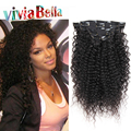 3B 3C Kinky Curly Clip In Human Hair Extensions 7A Natural Hair Kinky Clip Ins Human Hair Kinky Curly Clip In Hair Extensions