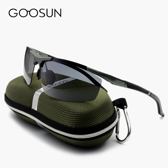 GOOSUN Alumínio Óculos Polarizados Homens Grife de Condução espelho Óculos de Sol do esporte Com Caixa gafas oculos de sol masculino