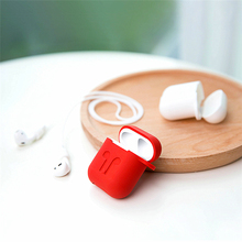 OUTMIX Silicone Case For Apple Airpods Cover Earphone Strap Wireless Bluetooth Headphone Earphone Protector Case for Air Pods цена и фото