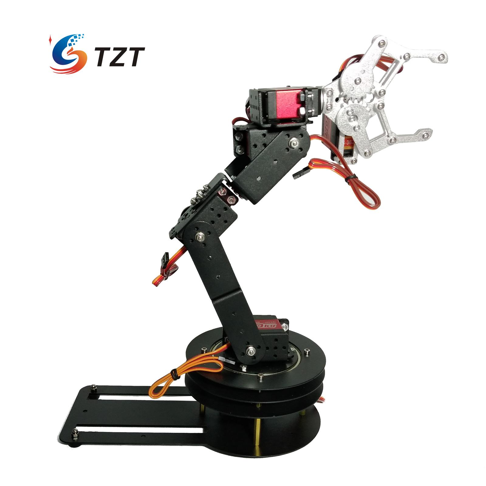 6-Axis 6DOF Robot Mechanical Arm Manipulator Single Frame with 6PCS MG996R Servo 6PCS Servo Horn 6 dof robot arm six axis manipulators industrial robot model robot without controller mg996r