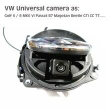 Для VW Гольф 6 Mk6 Passat CC b7 Magotan Жук листать HD CCD Камера для VW Знак Логотип Смарт Флип заднего вида багажник ручка Камера