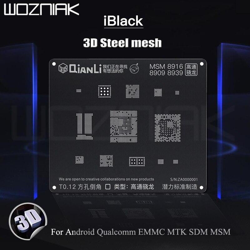 QIANLI iBlack 3D стальная сетка для Android, Qualcomm EMMC MTK SDM MSM Оловянная посадка, черная сетка, лучший шаблон|Детали инструментов|   | АлиЭкспресс