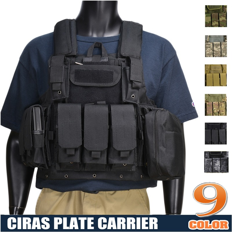 CQC Ciras Airsoft Combat Molle Vest Military Tactical Strike Plate Carrier Camouflage Paintball Wargame CS Hunting Assault Vest us army cp camouflage tactical vest 600d nylon molle military cs paintball vest combat vest