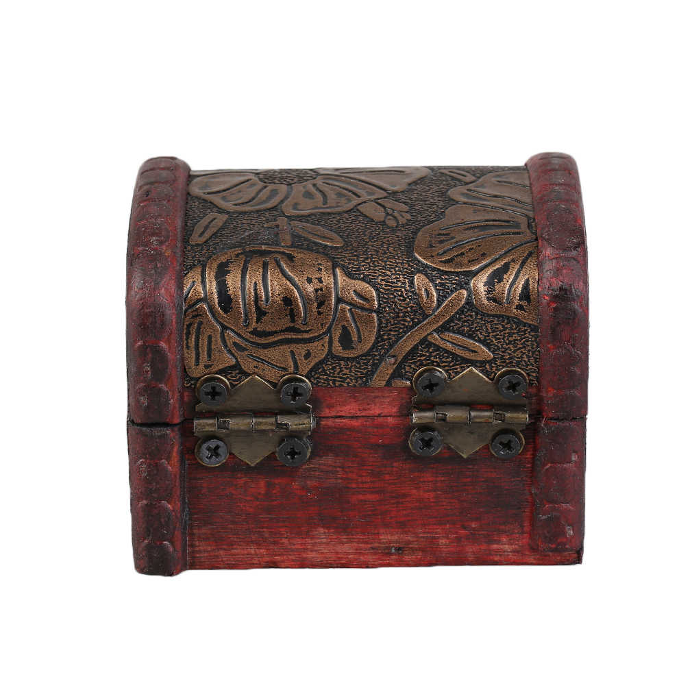 OUTAD Retro Wood Watch Display Box Jewelry Necklace Rings Storage Organizer Random Pattern Delivered cajas para relojes