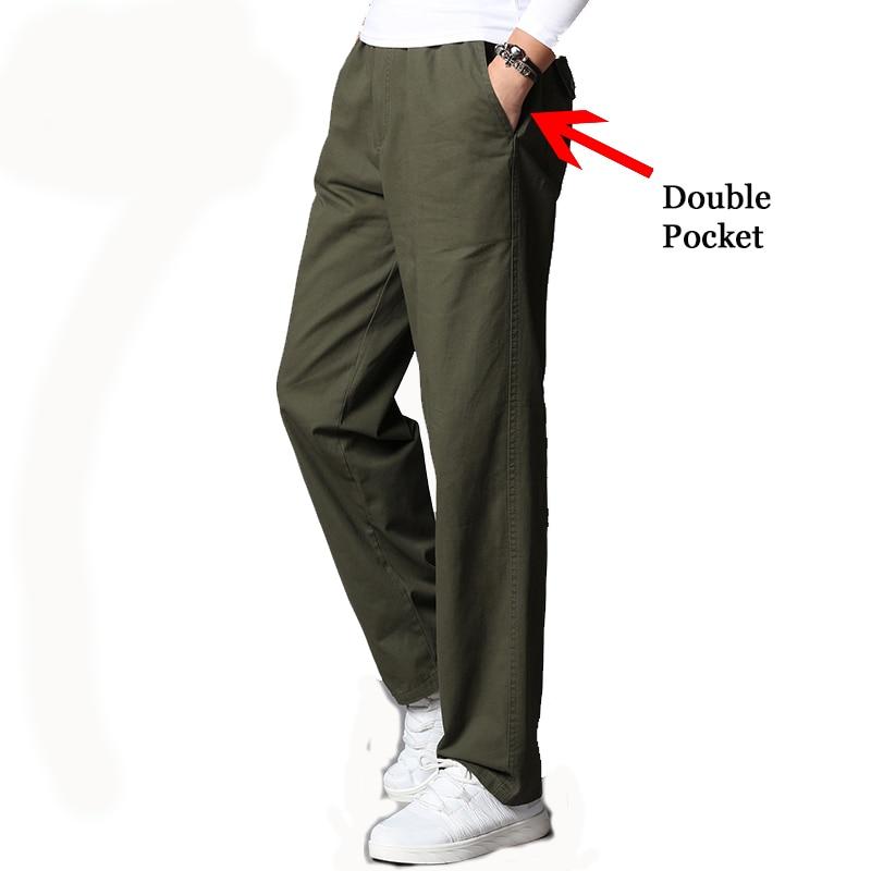 Men's Clothing Large Sizes 2020 Elastic Waist Band Work Pants Long Straight Plus Loose 5XL Free Trousers Male Summer Pants Men