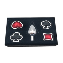 4 pcs/set Sex Products Metal Anal Plug with Poker Crystal Toys for Woman Man Prostate Massager Jewelry Butt Erotic
