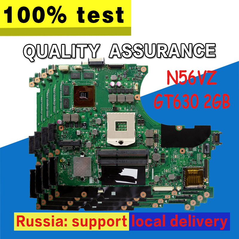 N56VZ Motherboard GT630 2g For ASUS N56V N56VM N56VV N56VJ N56VB Laptop motherboard N56VZ Mainboard N56VZ Motherboard test OK sheli n56vm motherboard for asus n56v n56vm n56vz n56vj laptop motherboard gt650m original tested mainboard n56vz