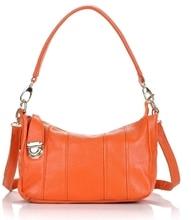Designer de haute qualité en cuir souple orange femmes sacs à main de mode petit souple messenger sacs femme hobos sac bolsa franja 6 couleur