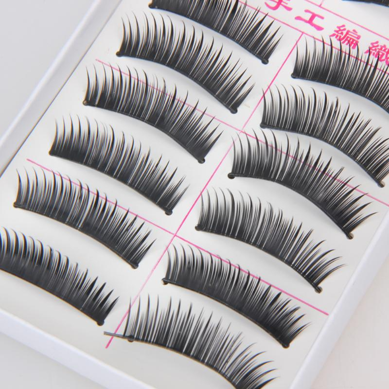10 Pairs Makeup Handmade Natural Soft Long Thick Black False Eyelashes Charming Eye Lashes Extension Makeup Tool Beauty Cosmetic