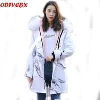 Parker coat female long 2019 fashion fox fur liner scorpion fur collar faux fur coats girls Hooded fur jacket Women's clothing