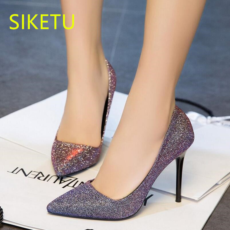 SIKETU Free shipping Spring and autumn women shoes high heels shoes summer wedding shoes pumps g354 flip flop sandals