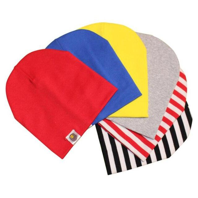 Ấm Rắn Bé Hat Cap Mùa Thu Mùa Đông Bé Trai Mới Cô Gái Bông Hat Trẻ Em Dệt Kim Sọc Cap Sơ Sinh Kẹo Màu Hat