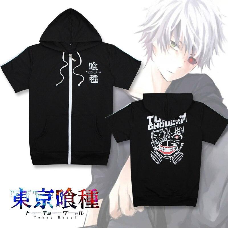 anime MEN WOMEN Tokyo Ghoul cosplay hoodie kaneziki clothes sweater kaneki ken carnaval cosplay shirt short sleeve tee