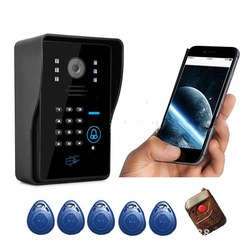1080P password WIFI/IP wireless doorbell Wifi video door phone  ring