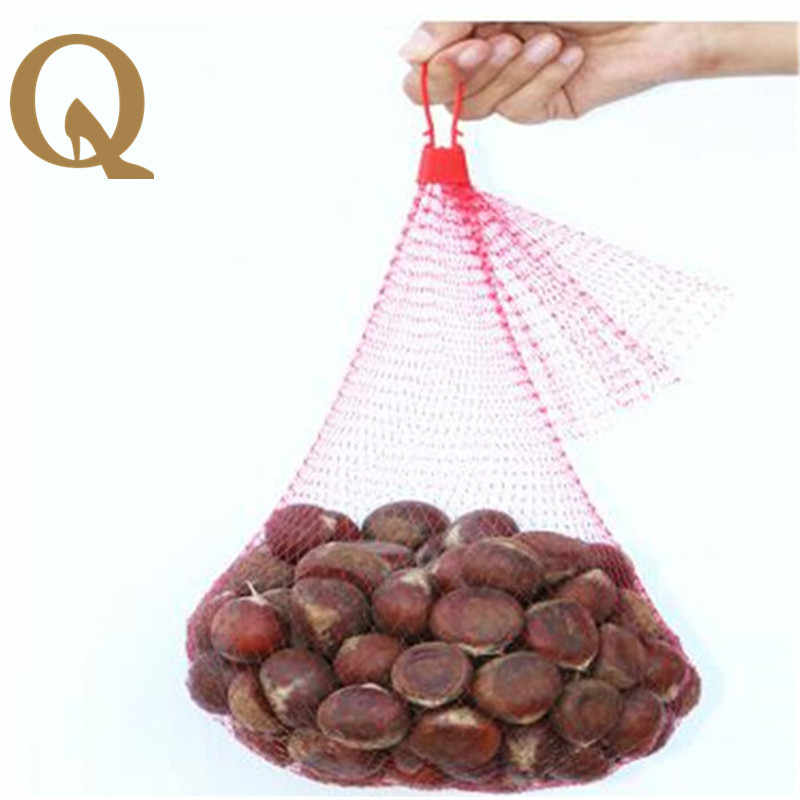 2017 apple fruit walnut grape crab chestnut litchi aquatic Onions Plastic net mesh bag family utility