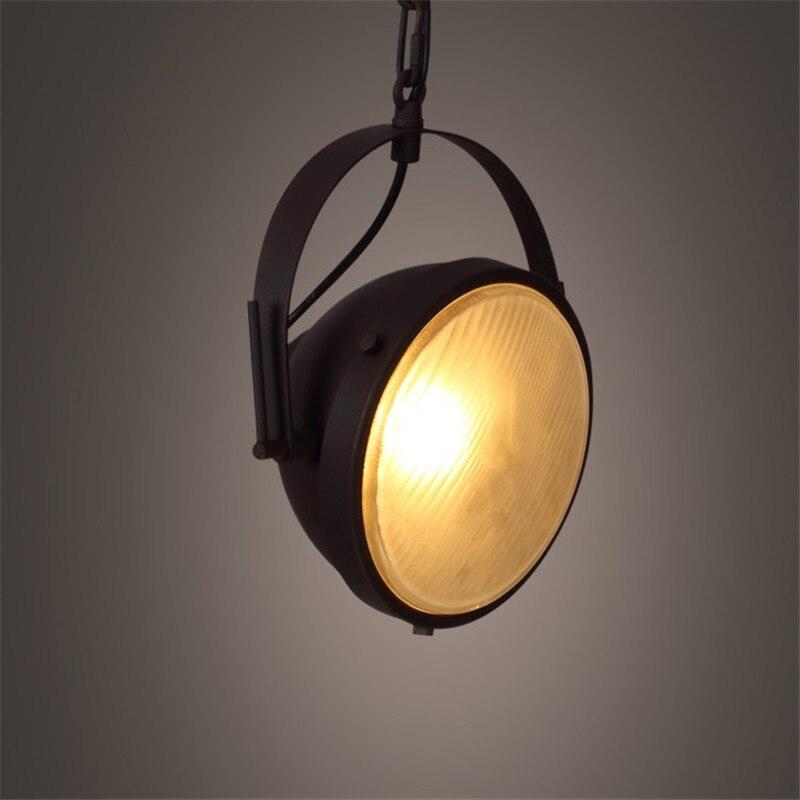 Industrial Vintage Pendant Light LED Iron Car HangLamp Nordic Loft Lamp Deco Home Lighting Lights Antique Lampara Colgante
