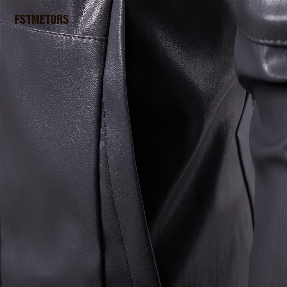 Biker 3 Zipper Fstmetors Manteau 2018 Régulières Slim Hommes Manches Air 2 amp; Moto Longues Sweat Plein Poches Capuche À Court En 1 Faux Vestes Cuir EYqqFxwS